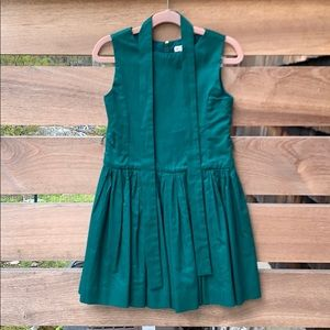 Crewcuts Kelly Green Cotton Party Dress